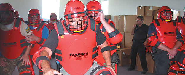 """RedMan Training Gear has been putting the """"force"""" in Use of Force Training Since 1984."""